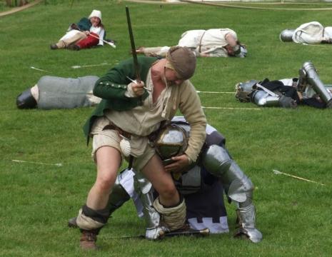 Re-enactment at Cosmeston May 2006