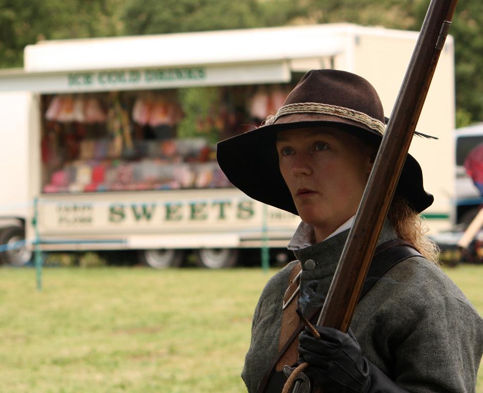 SK at Skenfrith Castle Jul 2010