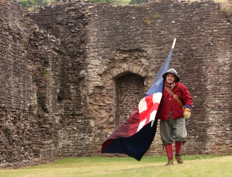 SK at Skenfrith Castle Jul 2010