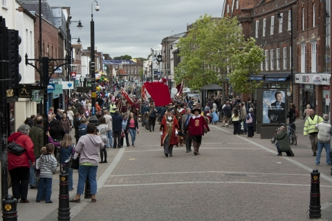 SK Parade in Newbury with Mayor May 2011