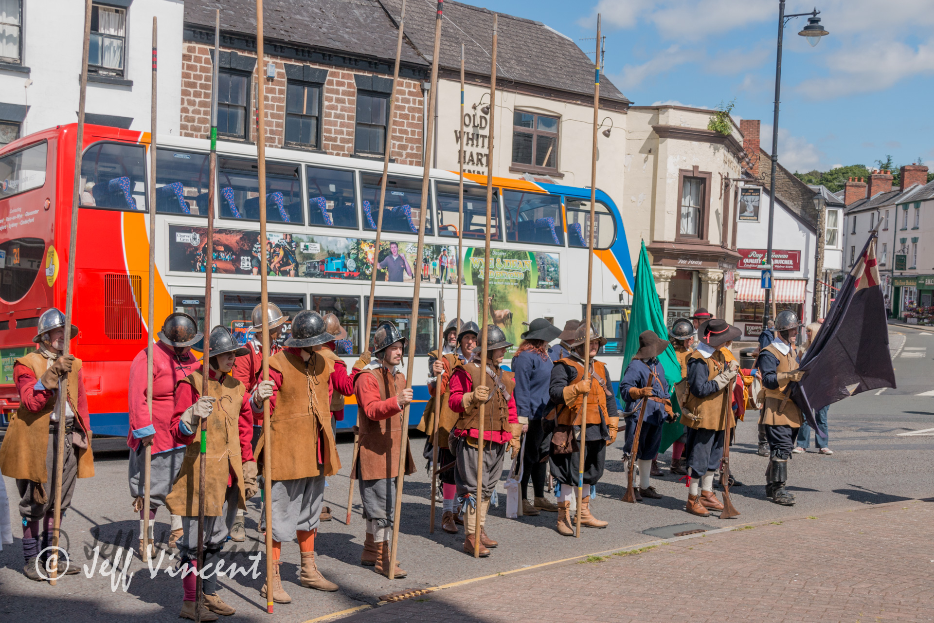 Pikemen at the busstop