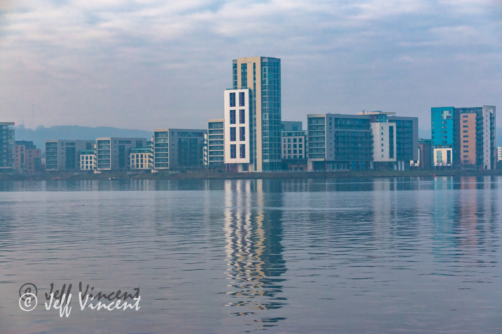 View Across Cardiff Bay - with Lightroom Adjustments