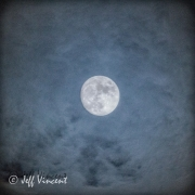 The Moon on a cloudy evening