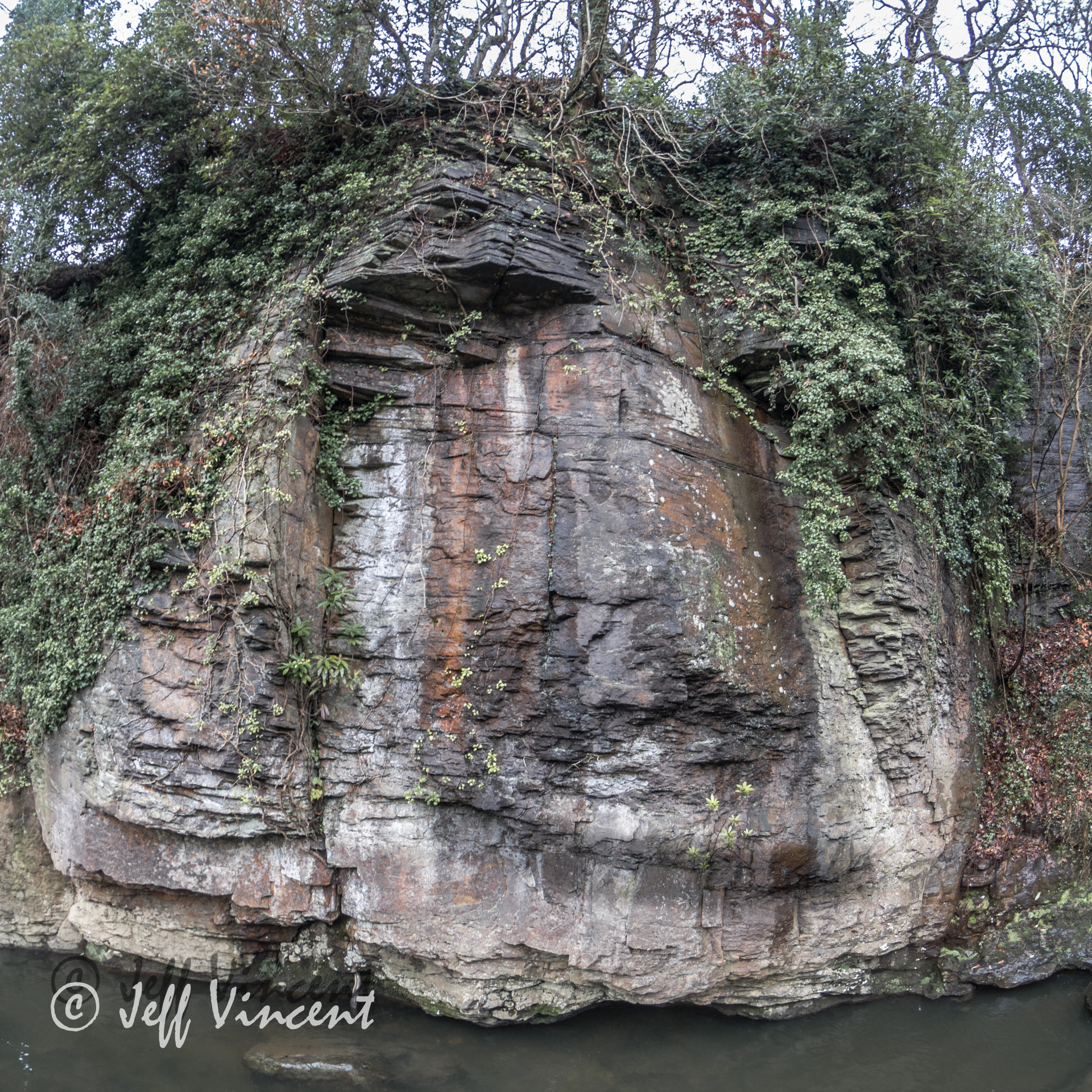 Can you see the face - Aberdulais Falls