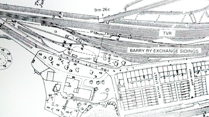 Map of Junction with Taff Railway