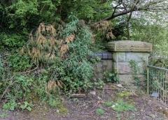 Abutment on remaining emankment near Tongwynlais Stn