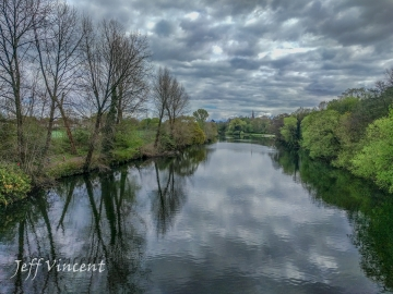 Crossing the River Taff at Llandaff