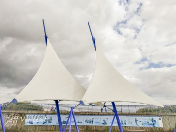 Sails at Cardiff Barrage