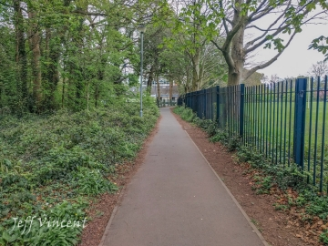 Path and cycle track in Llandaff