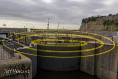 Art at Cardiif Barrage Locks