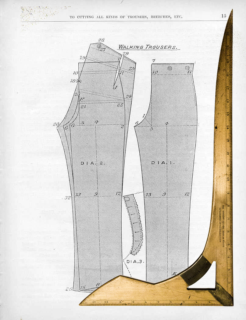 Vincents Square alongside page from The Cutter's Practical Guide