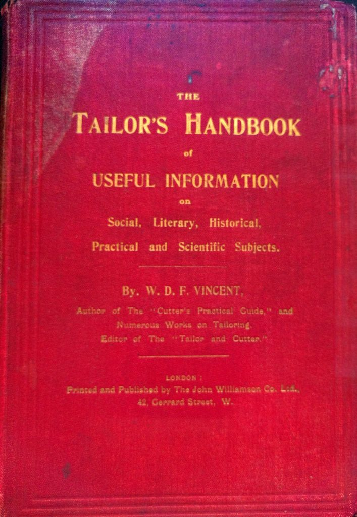 The Tailor's Handbook front cover