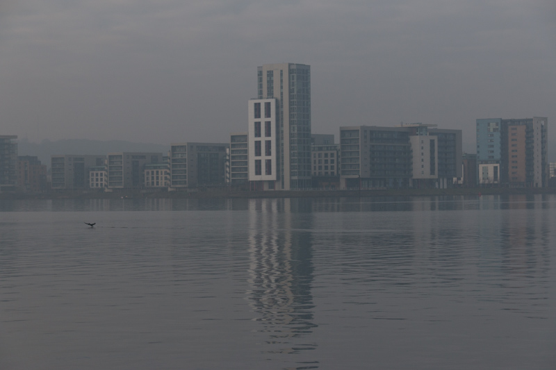 View across Cardiff Bay - as shot