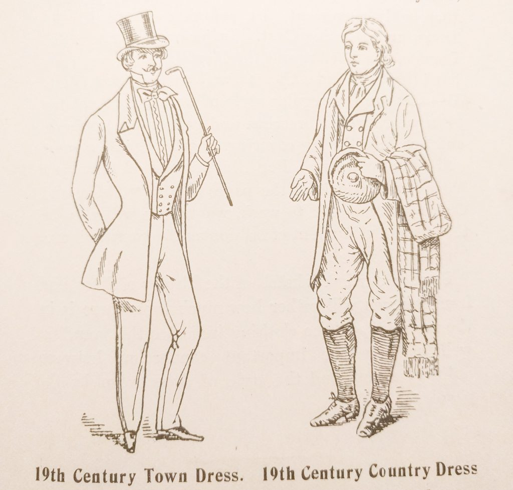 19th Century Town Dress and 19th Century Country Dress