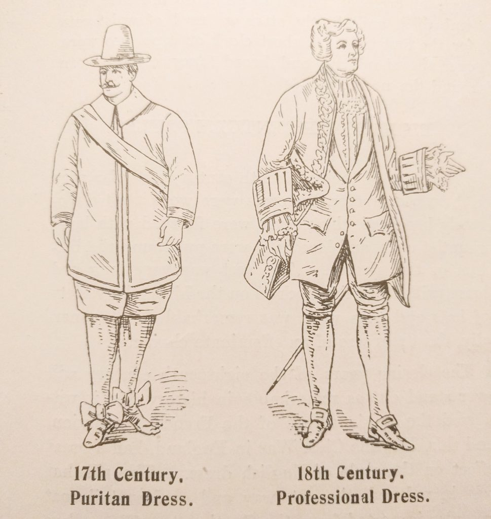 17th Century Puritan and 18th Century Professional