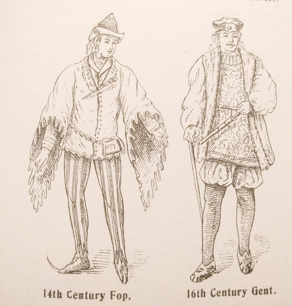 14th Century Fop and 16th Century Gent