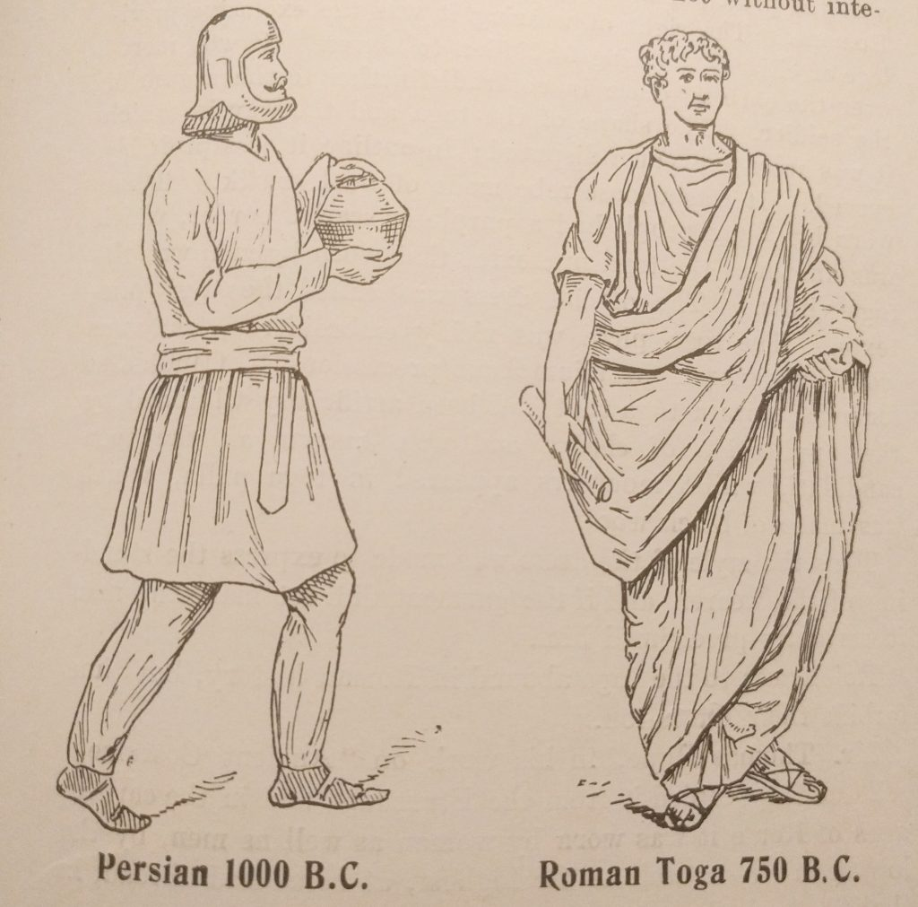 Persian cup bearer and Roman Toga