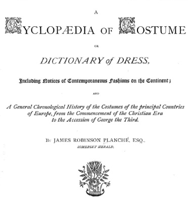 Fronstpiece from cyclopedia of costume