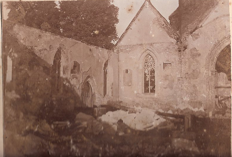 Wargrave Church after the fire