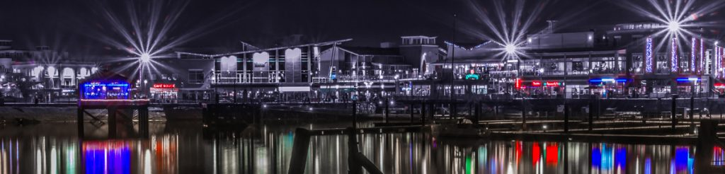 Mermaid Quay, Cardiff - by night